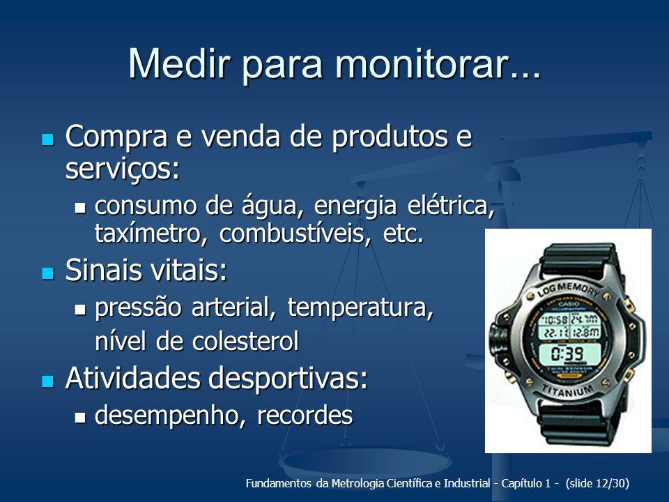 Fundamentos da Metrologia Científica e Industrial - Capítulo 1 - (slide 13/30) Medir para monitorar...