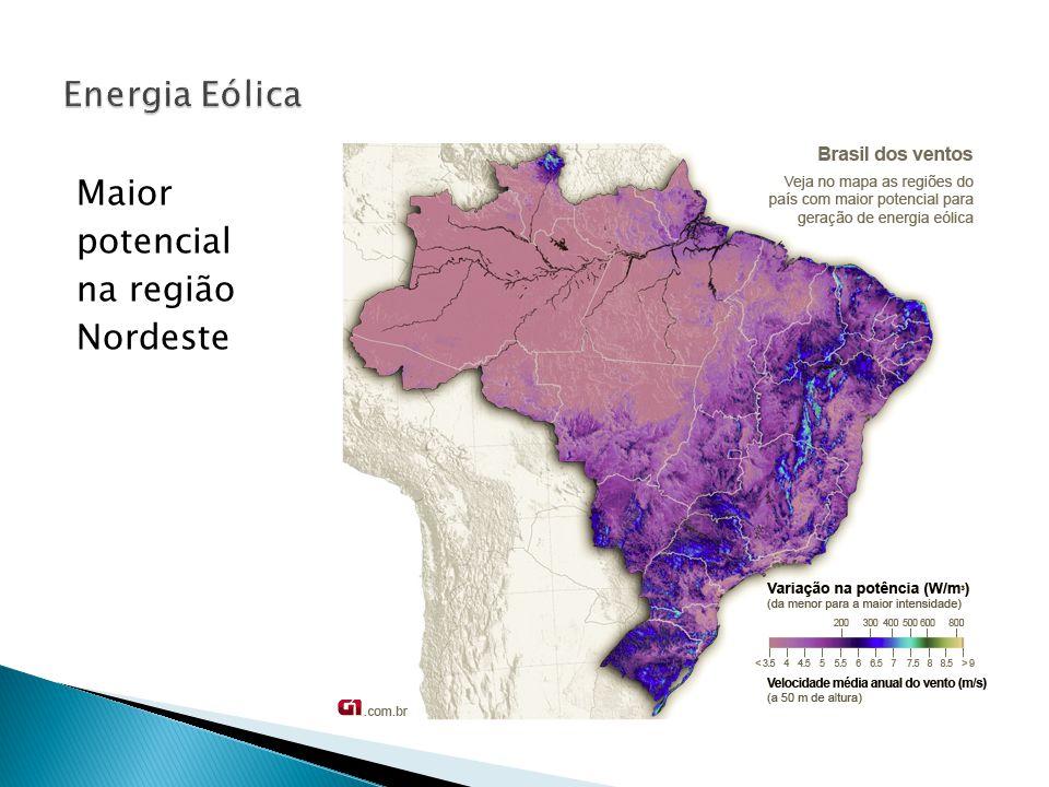 Maior potencial na região Nordeste