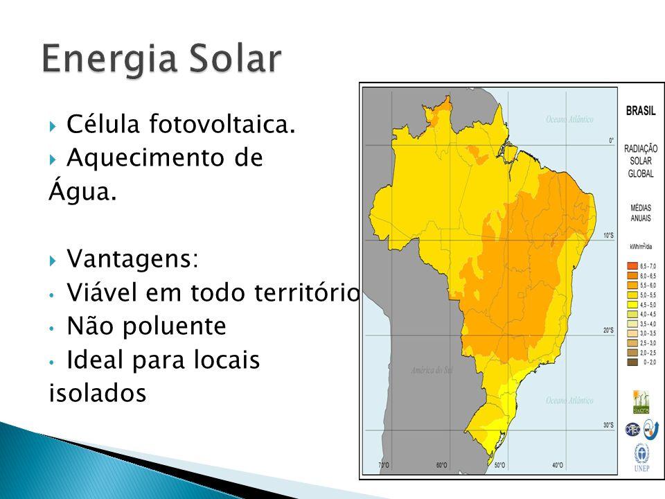  Célula fotovoltaica. Aquecimento de Água.