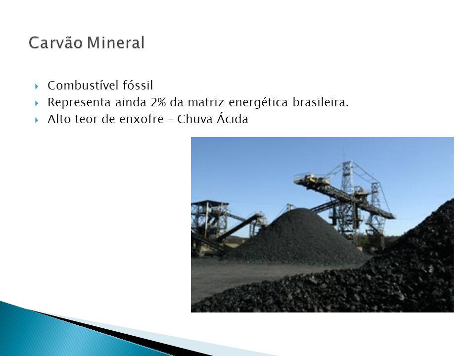  Combustível fóssil  Representa ainda 2% da matriz energética brasileira.