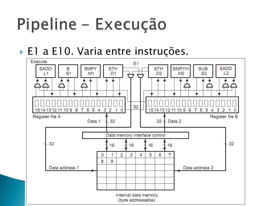  E1 a E10. Varia entre instruções.