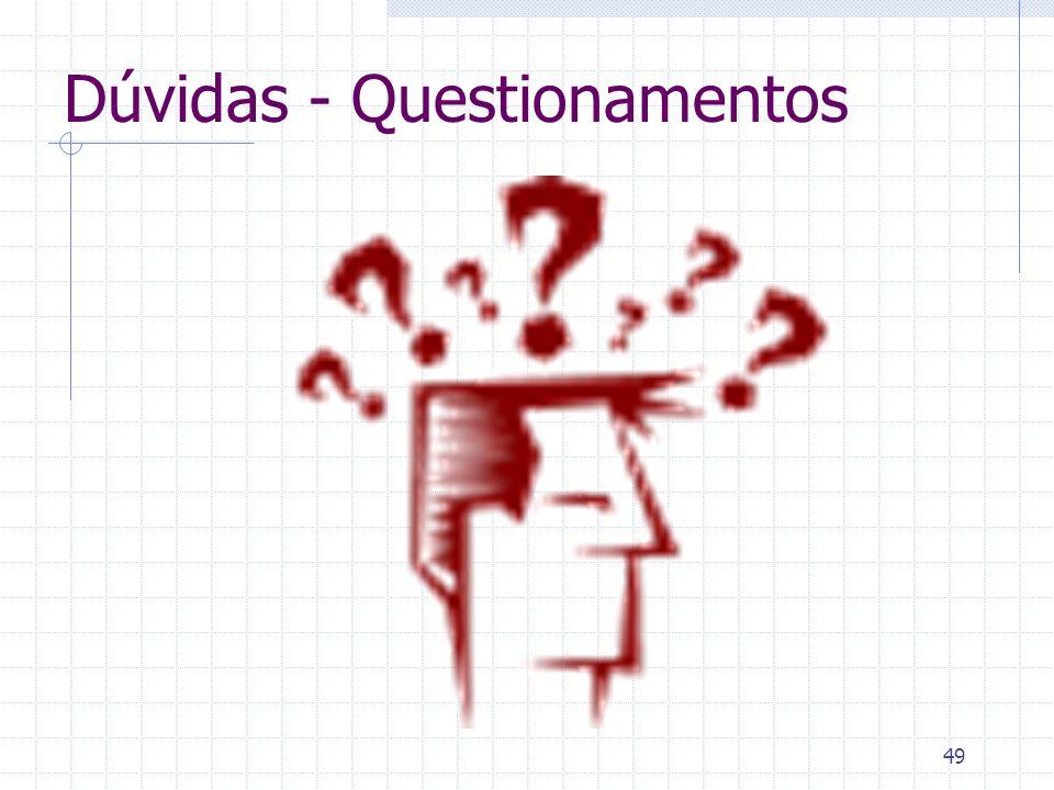 49 Dúvidas - Questionamentos