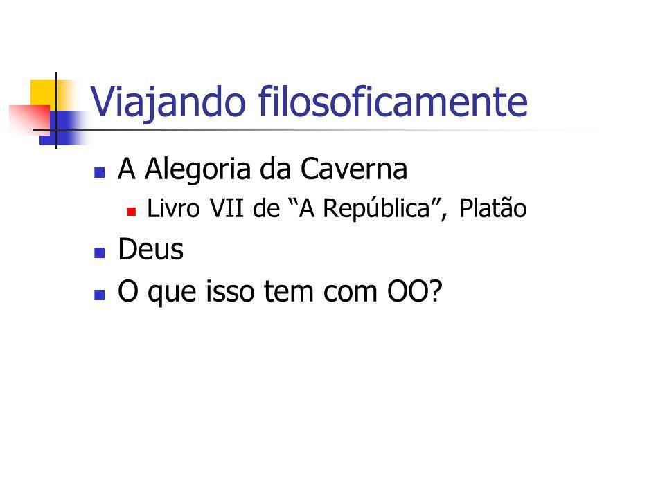 Viajando filosoficamente A Alegoria da Caverna Livro VII de A República , Platão Deus O que isso tem com OO?