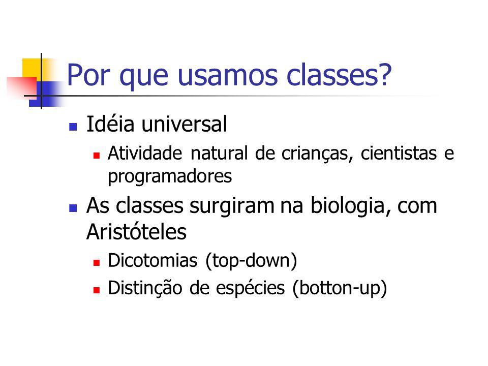 Por que usamos classes.