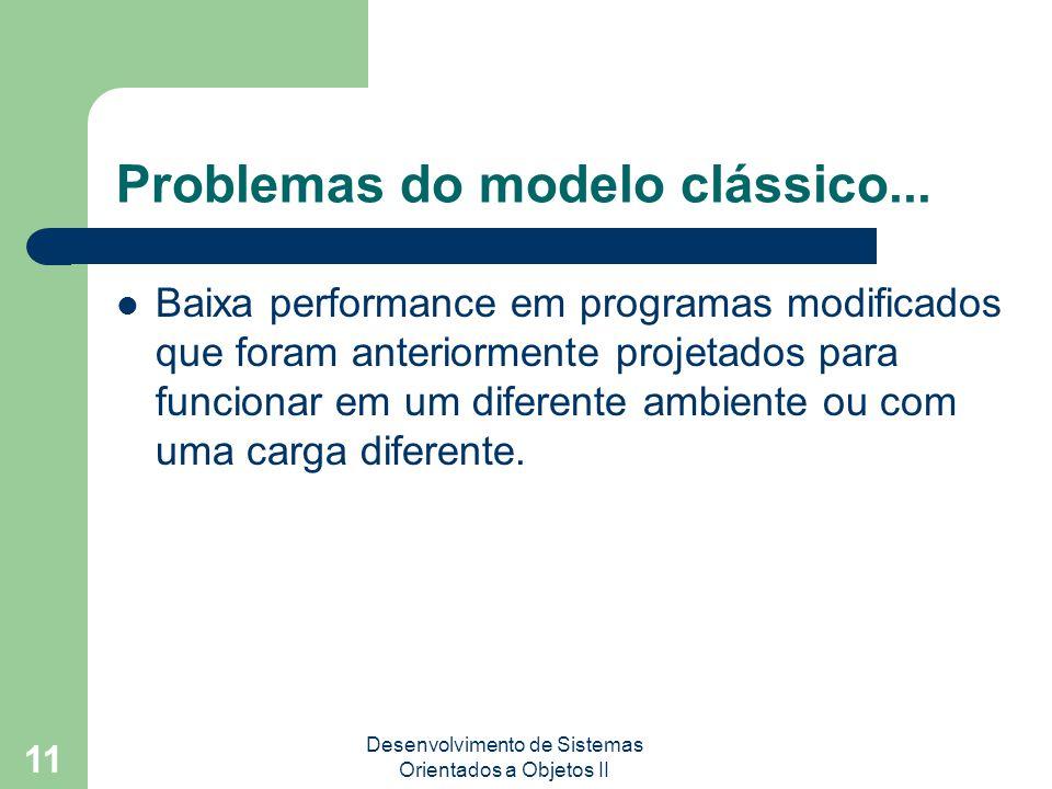 Desenvolvimento de Sistemas Orientados a Objetos II 11 Problemas do modelo clássico...