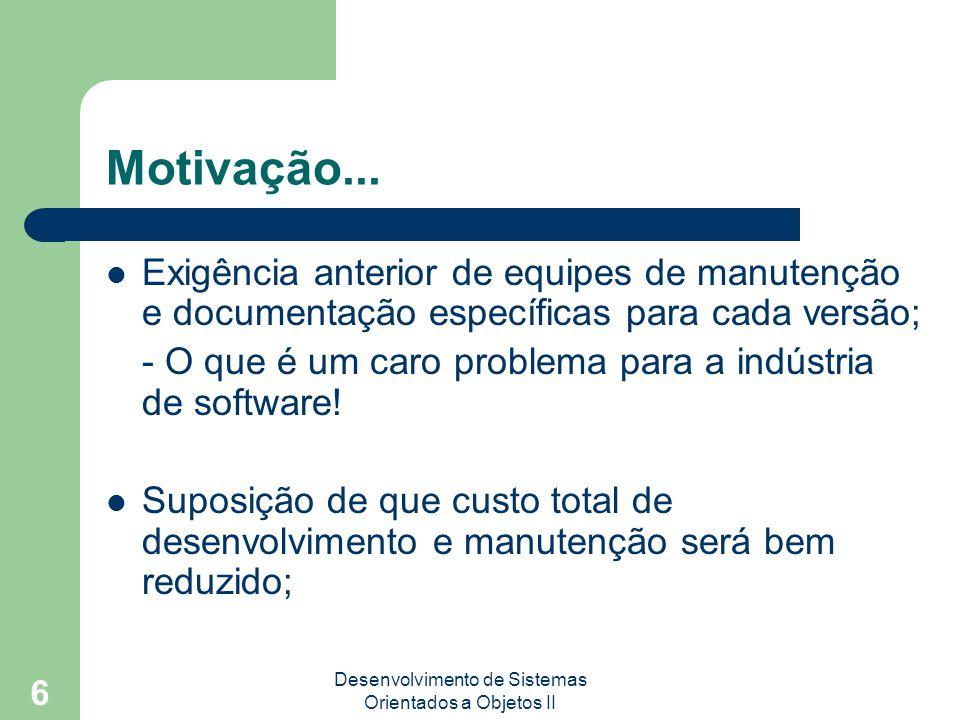 Desenvolvimento de Sistemas Orientados a Objetos II 6 Motivação...