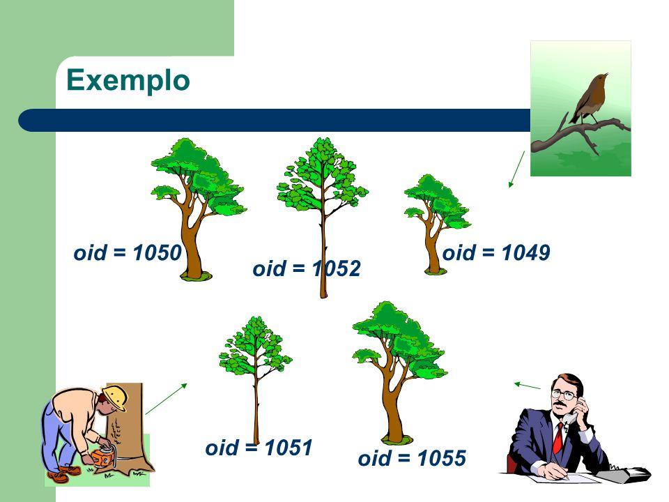 Exemplo oid = 1050 oid = 1051 oid = 1052 oid = 1055 oid = 1049
