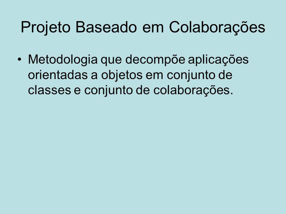 Projeto Baseado em Colaborações Metodologia que decompõe aplicações orientadas a objetos em conjunto de classes e conjunto de colaborações.
