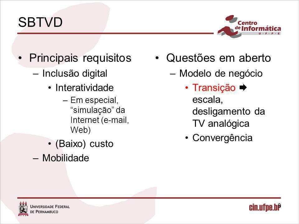 Estudos de Caso Agregador de conteúdo da internet para TVD –O projeto I.X.E (Interactive eXperience for Entertainment) teve como objetivo oferecer serviços de notícias (RSS) transmitidos da internet para a TVDi do usuário