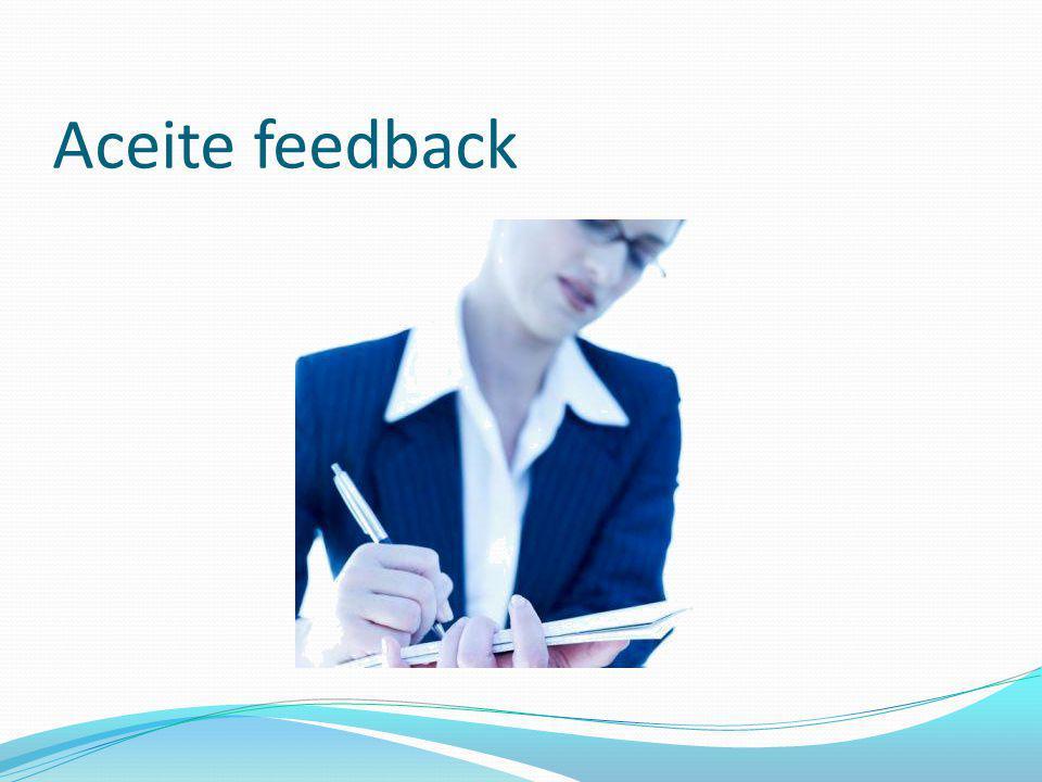 Aceite feedback