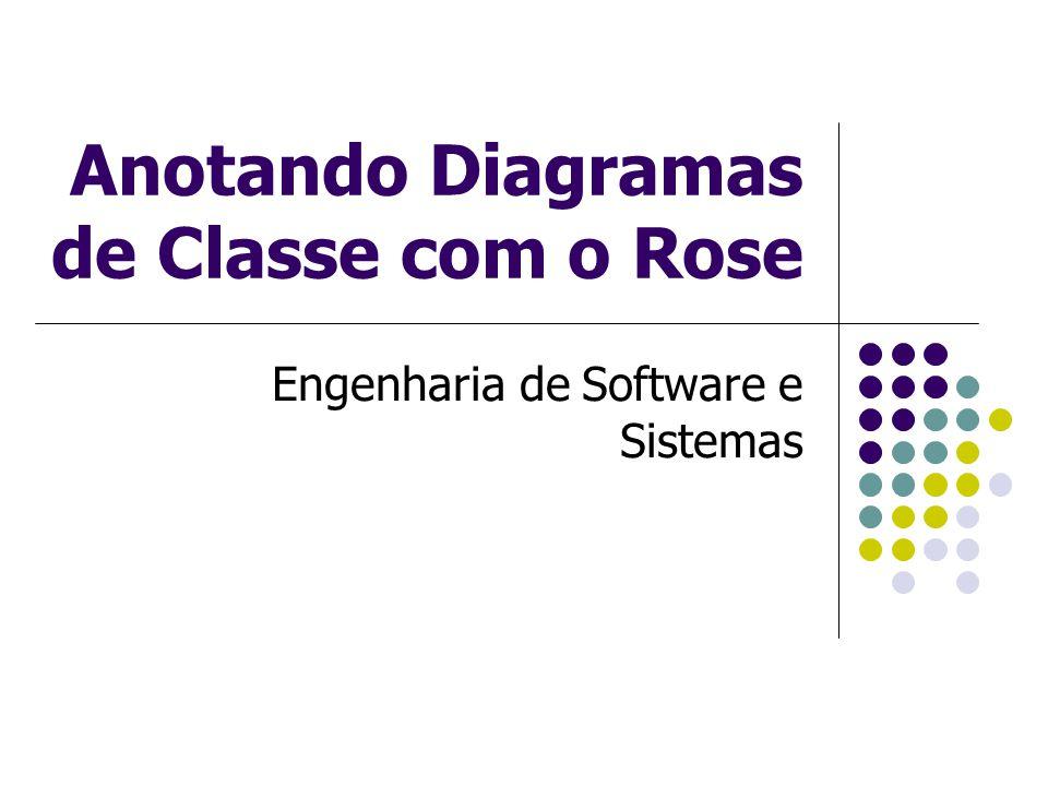 Anotando Diagramas de Classe com o Rose Engenharia de Software e Sistemas