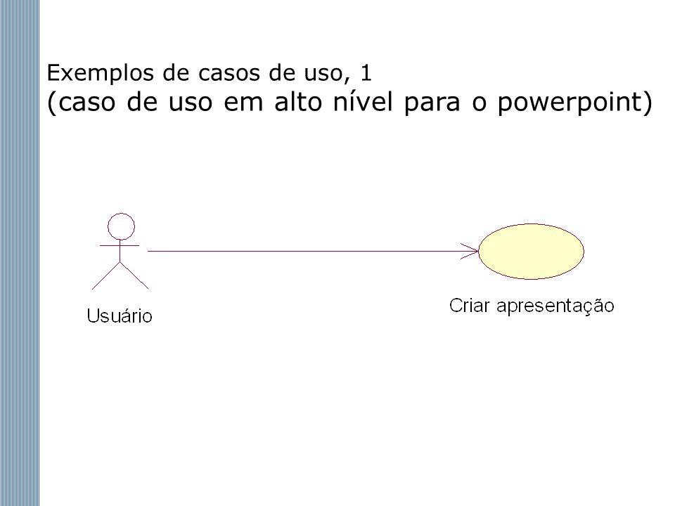Exemplos de casos de uso, 1 (caso de uso em alto nível para o powerpoint)