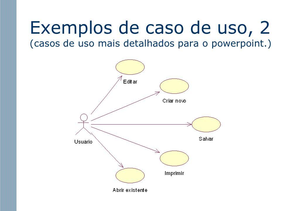 Exemplos de caso de uso, 2 (casos de uso mais detalhados para o powerpoint.)