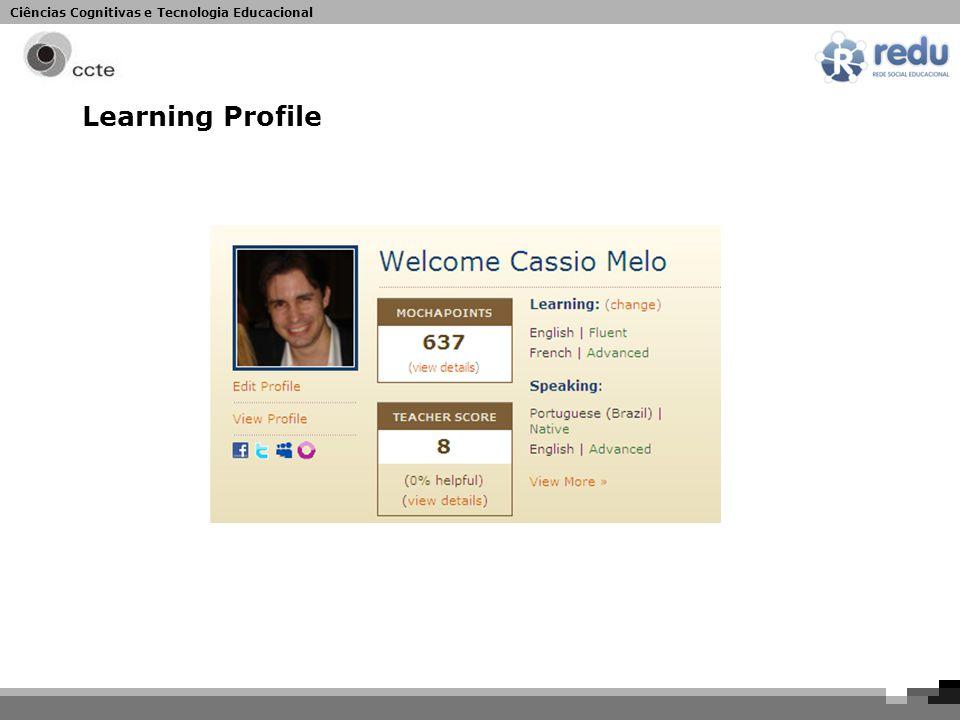Ciências Cognitivas e Tecnologia Educacional Learning Profile