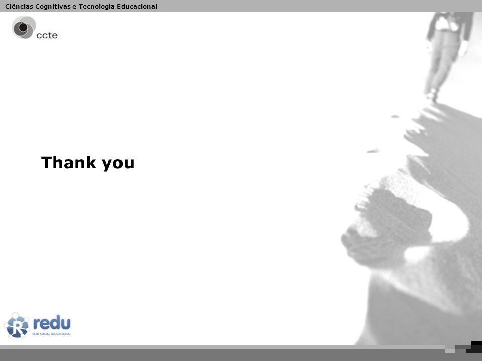 Ciências Cognitivas e Tecnologia Educacional Thank you