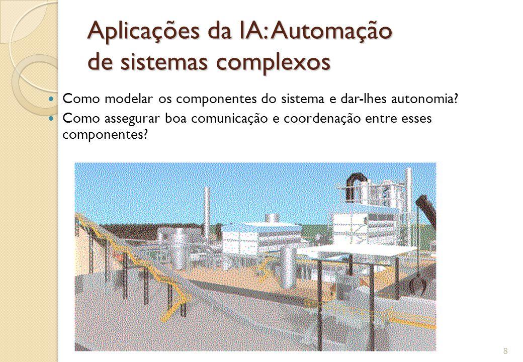 Automação de Software Complexo Segundo o Autonomic Computing Manifesto (IBM 2001), o que queremos são sistemas capazes de: ◦ Conhecer o ambiente ◦ Auto conhecimento ◦ Auto-Configuração ◦ Auto-Recuperação ◦ Auto-Otimização ◦ Auto-Proteção ◦ Conhecimento do contexto ◦ Integração automática ◦ Realizar predição 9