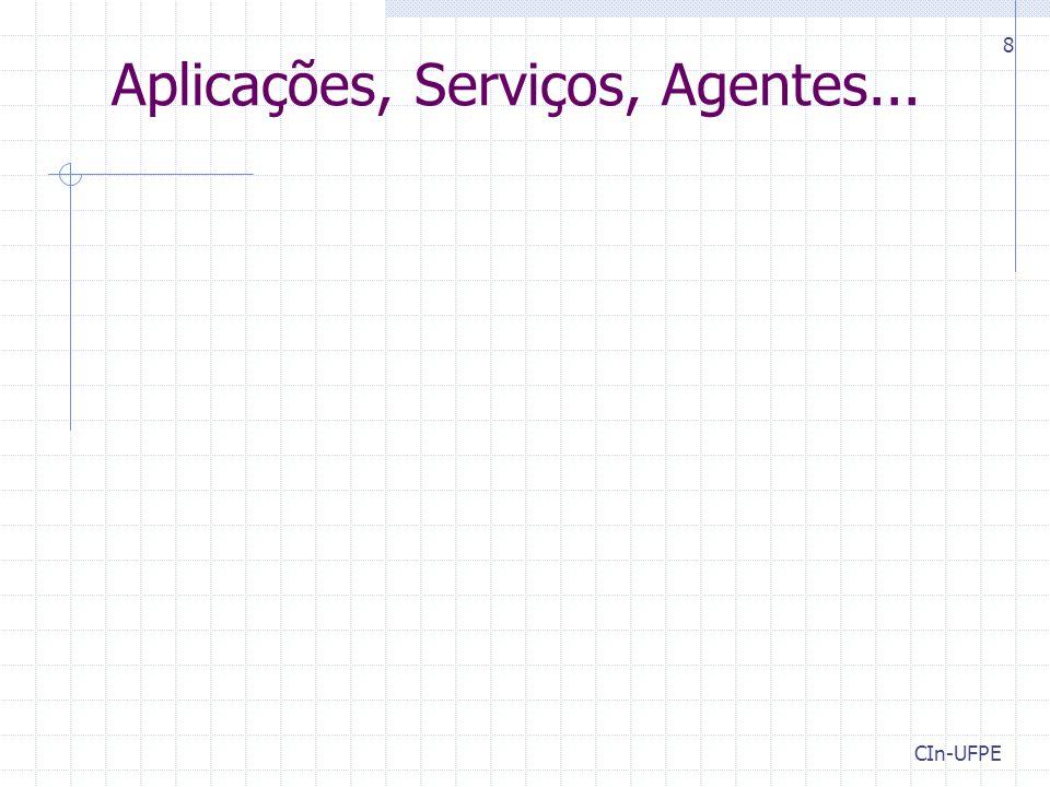 CIn-UFPE 8 Aplicações, Serviços, Agentes...