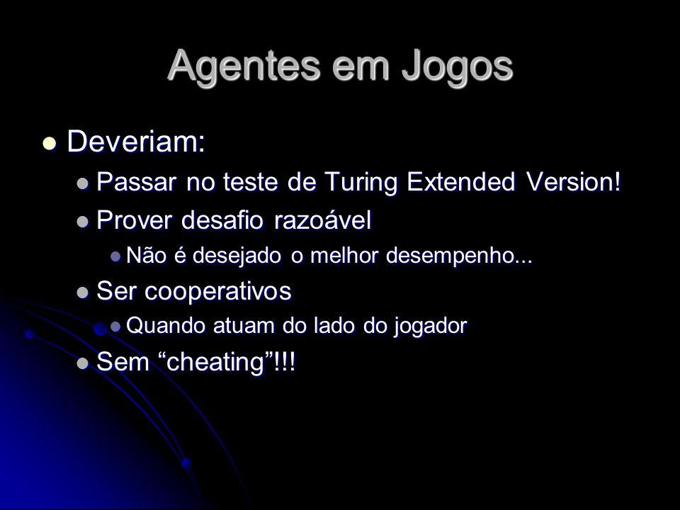 Agentes em Jogos Deveriam: Deveriam: Passar no teste de Turing Extended Version.