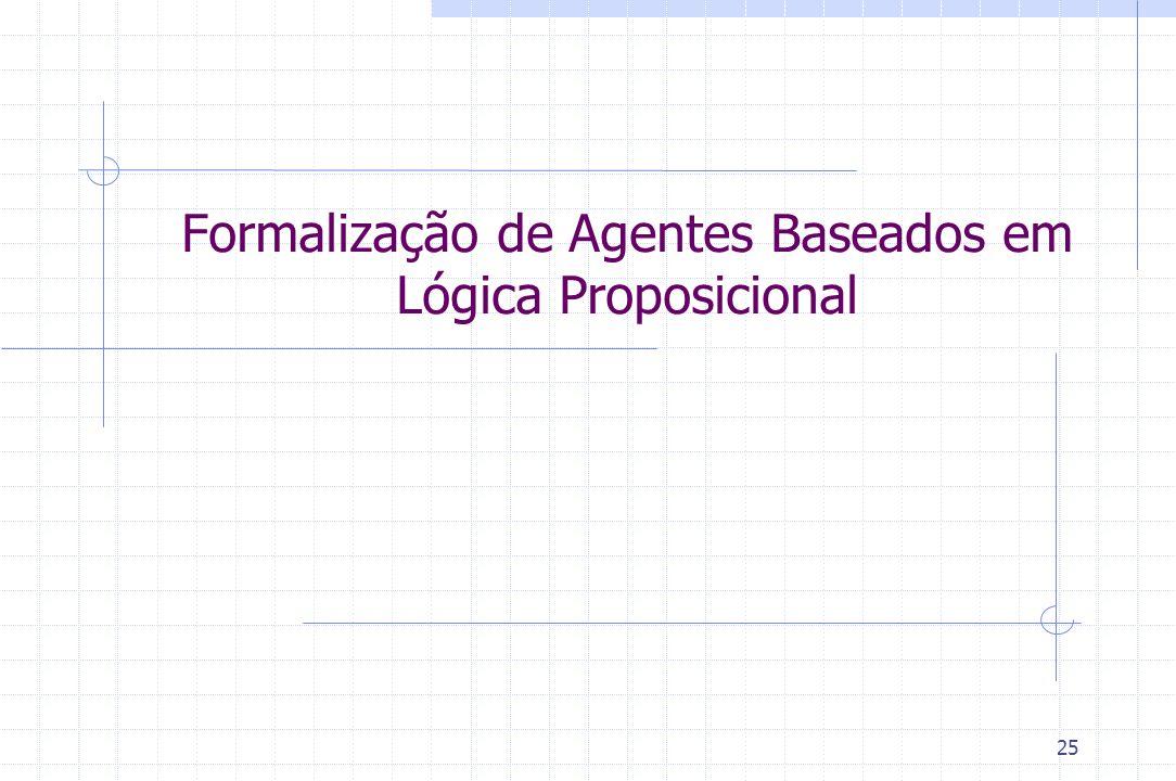 25 Formalização de Agentes Baseados em Lógica Proposicional