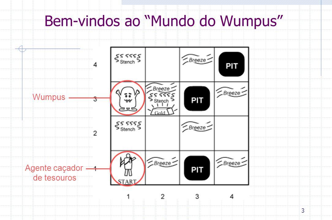 """3 Bem-vindos ao """"Mundo do Wumpus"""" WumpusAgente caçador de tesouros"""
