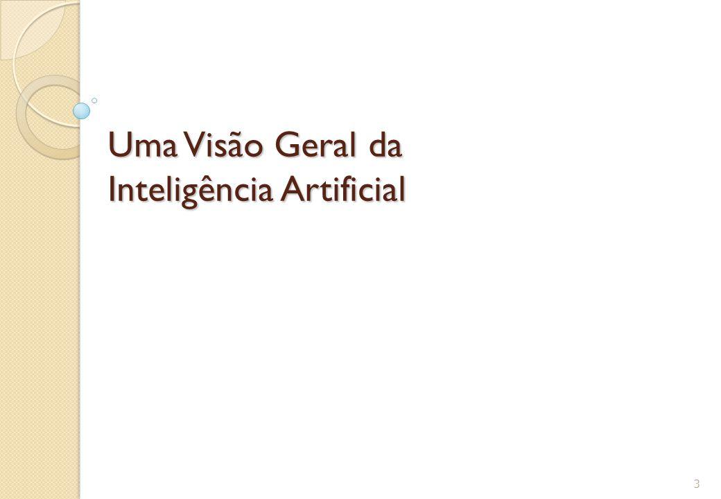 Definições de IA Máquina que raciocina racionalmente: ideal ◦ Em direção a um conceito ideal de inteligência ◦ Formalização de leis do pensamento que governam a mente ◦ Lógica, Probabilidades,… ◦ Inferências corretas 24 P(A|B)