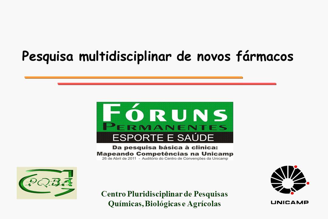 CPQBA: estrutura organizacional l l Divisões Agrotecnologia (DAGRO) Farmacologia e toxicologia (DFT) Fitoquímica (DFITO) Microbiologia (DMICRO) Química orgânica e Farmacêutica (DQOF) Recursos Microbianos (DRM) Biotecnologia e Processos (DBT) Resíduos (DR) l l Vila Betel Paulínia área construída: 8.000 m 2 campo experimental: 40 hectares