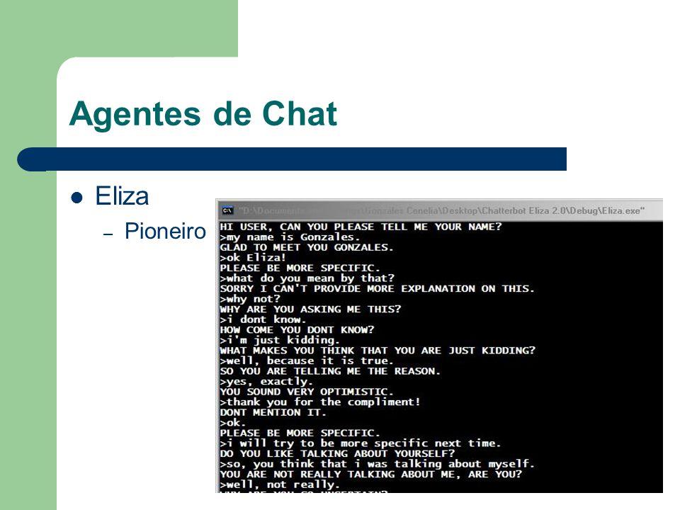 Agentes de Chat Eliza – Pioneiro