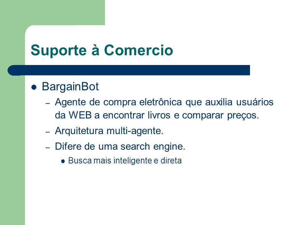 Suporte à Comercio BargainBot – Agente de compra eletrônica que auxilia usuários da WEB a encontrar livros e comparar preços. – Arquitetura multi-agen