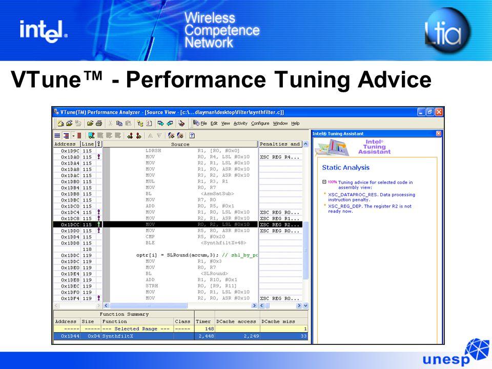 VTune™ - Performance Tuning Advice