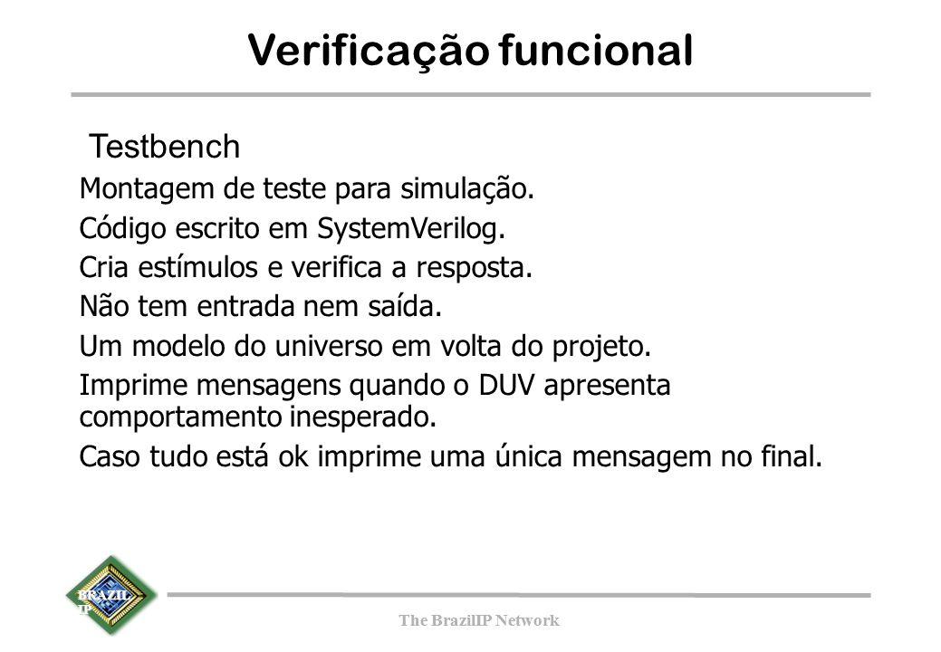 BRAZIL IP The BrazilIP Network BRAZIL IP The BrazilIP Network Verificação funcional Testbench Montagem de teste para simulação.