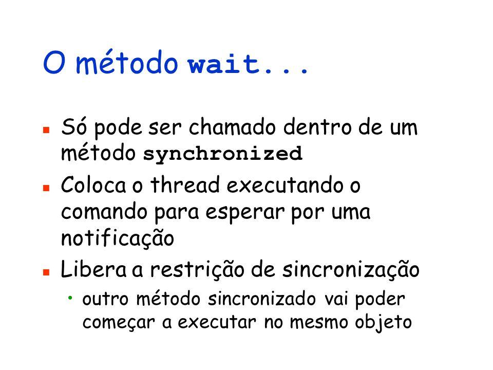 O método wait...
