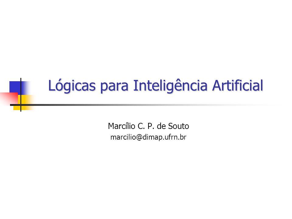 2 Tópicos Introdução: Perspectiva Histórica Papel da Lógica na Inteligência Artificial (IA) Lógicas para IA Deficiências da Lógica Clássica Lógicas Não-Clássicas Lógica Modal Lógica Temporal Lógica Não-Monotônica Lógica Multi-valorada Lógica Fuzzy Considerações Finais