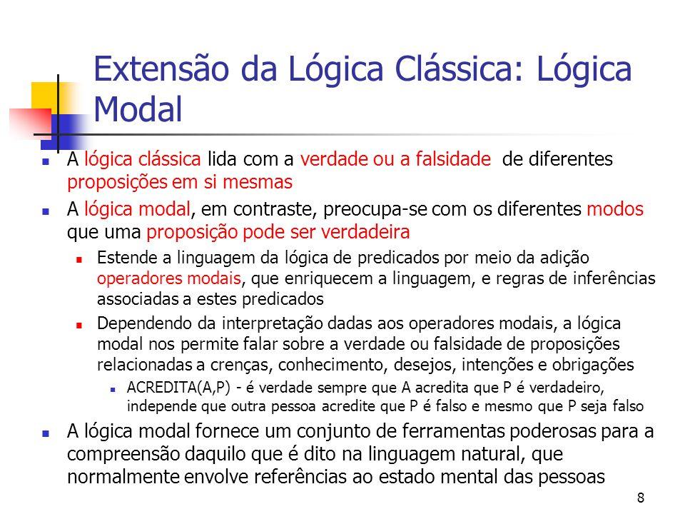 39 Lógica Fuzzy: considerações finais Lógica Fuzzy é uma importante ferramenta para auxiliar a concepção de sistemas complexos, de difícil modelagem, e pode ser utilizada em conjunto com outras tecnologias de ponta, como é o caso da combinação entre Lógica Fuzzy e Redes Neurais Artificiais, e Lógica Fuzzy e Algoritmos Genéticos.