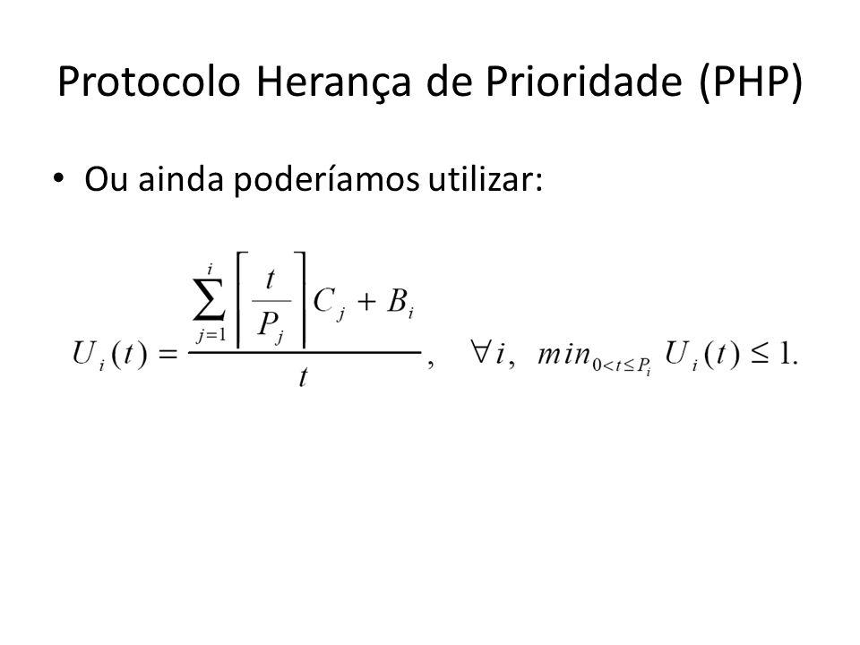 Protocolo Herança de Prioridade (PHP) Ou ainda poderíamos utilizar: