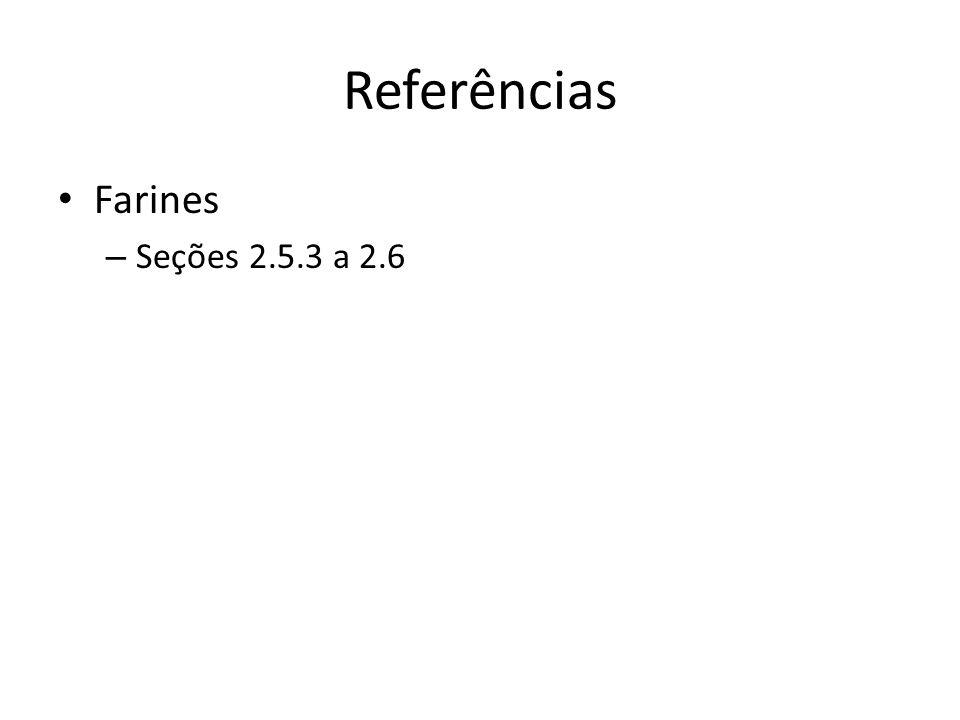 Referências Farines – Seções 2.5.3 a 2.6