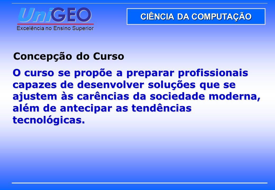 UniGEO – Operacionalização da proposta pedagógica UniGEO Excelência no Ensino Superior PRÁTICA DA COMUNICAÇÃO PRODUÇÃO CIENTÍFICA ATIVIDADES DE EXTENSÃO ATIVIDADES COMPLEMENTARES 1ª AVALIAÇÃO 2ª AVALIAÇÃO RECUPERAÇÃO M >= 7M >= 6M >= 4