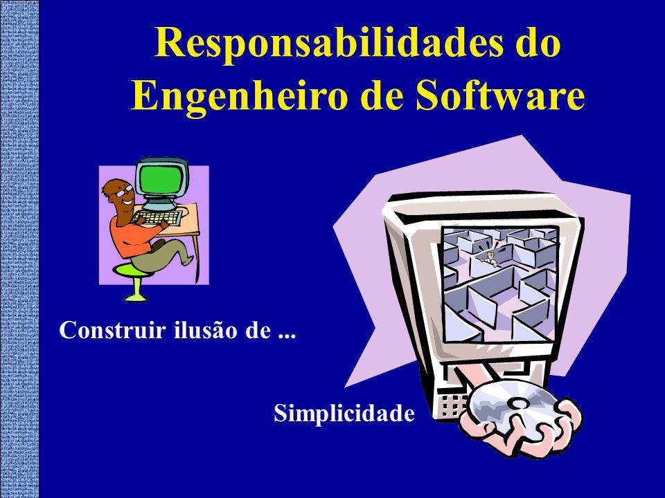 Construir ilusão de... Simplicidade Responsabilidades do Engenheiro de Software