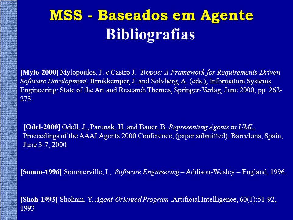 MSS - Baseados em Agente Bibliografias [Shoh-1993] Shoham, Y.