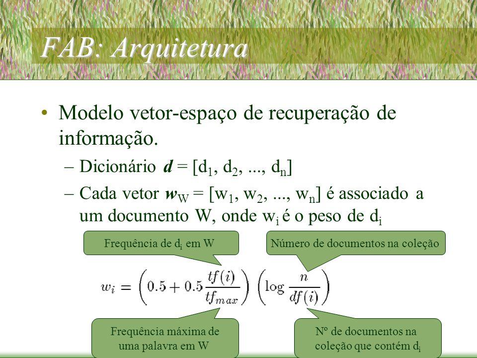 FAB: Arquitetura Modelo vetor-espaço de recuperação de informação.