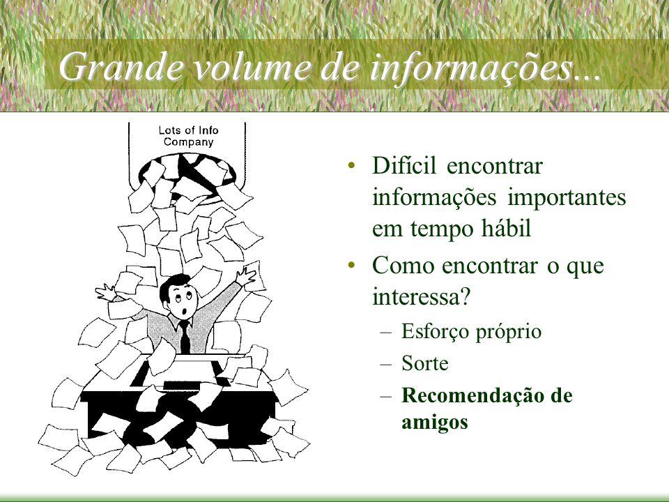 Grande volume de informações...