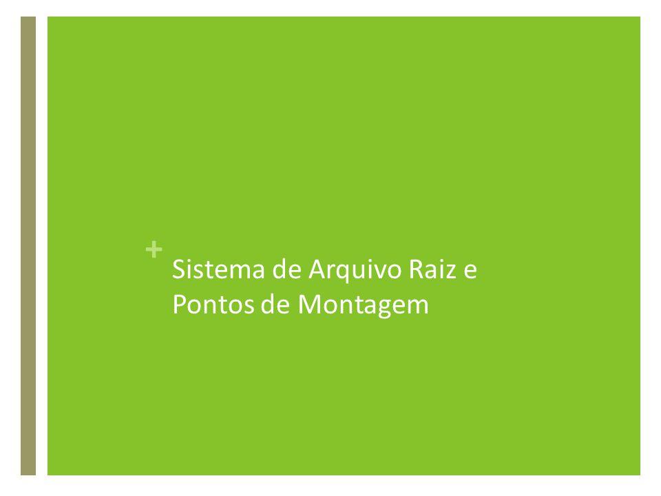+ Sistema de Arquivo Raiz e Pontos de Montagem