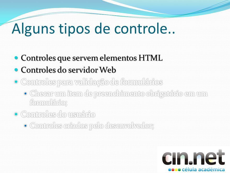 Controles do servidor Web Não é um-para-um em relação aos elementos HTML.