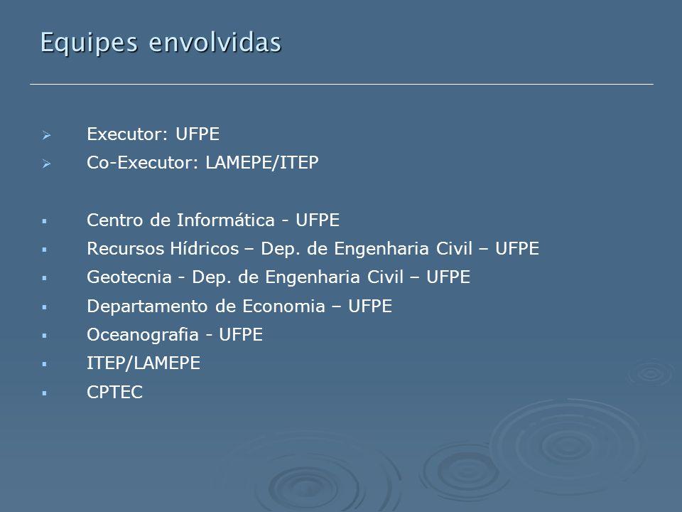   Executor: UFPE   Co-Executor: LAMEPE/ITEP   Centro de Informática - UFPE   Recursos Hídricos – Dep.