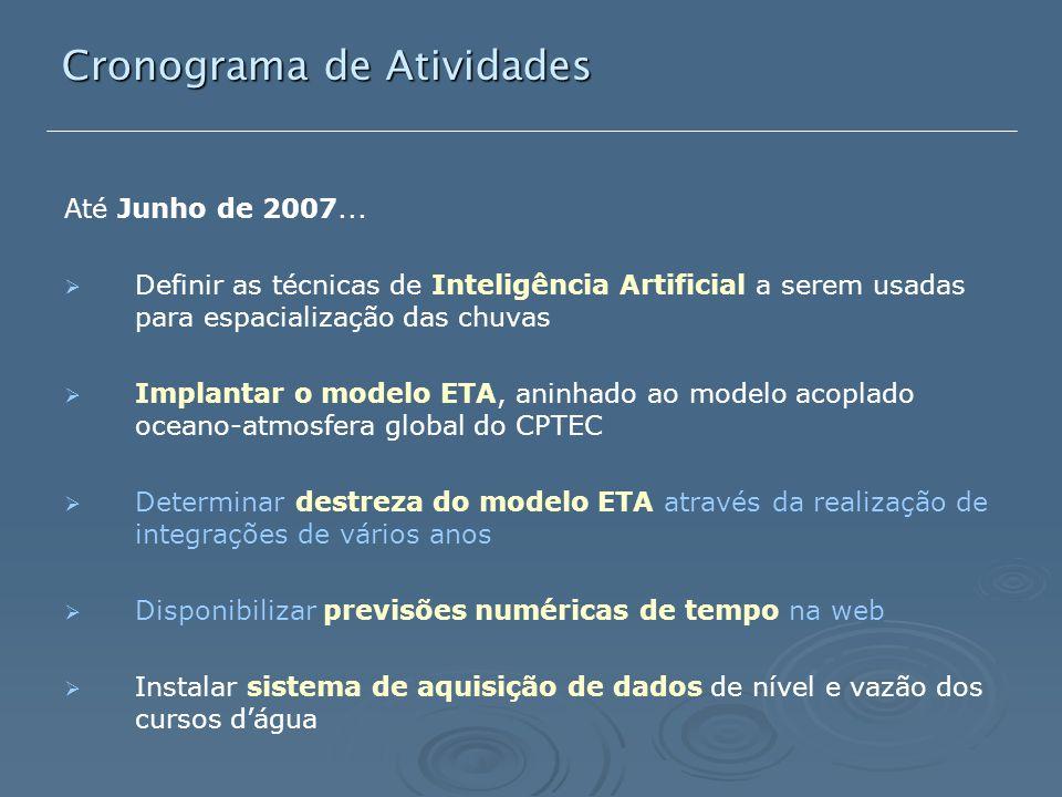 Cronograma de Atividades Até Junho de 2007...