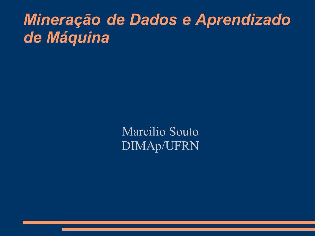 Mineração de Dados e Aprendizado de Máquina Marcilio Souto DIMAp/UFRN