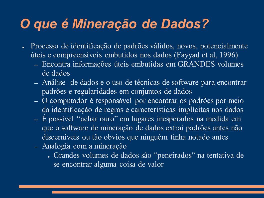 O que é Mineração de Dados.
