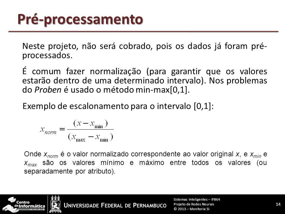 Entendi nada... 13 Sistemas Inteligentes – IF864 Projeto de Redes Neurais © 2013 – Monitoria SI