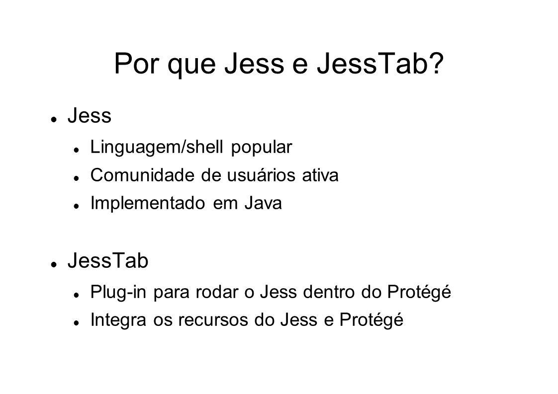 Por que Jess e JessTab.