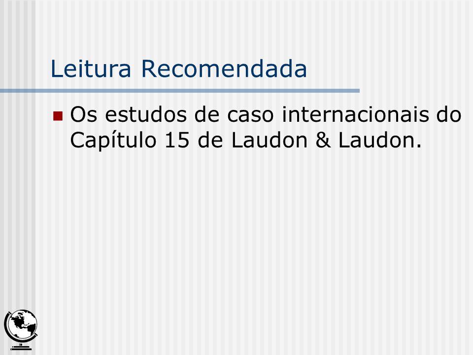 Leitura Recomendada Os estudos de caso internacionais do Capítulo 15 de Laudon & Laudon.