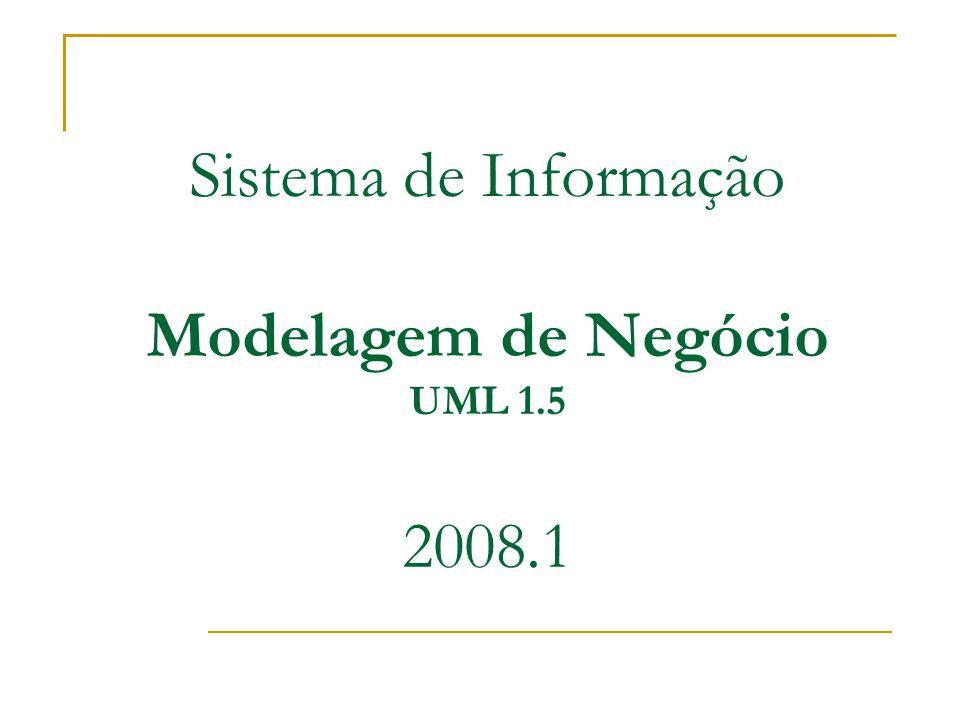 Sistema de Informação Modelagem de Negócio UML 1.5 2008.1
